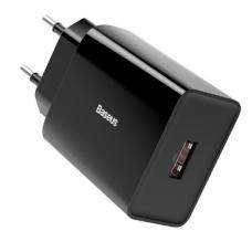 Cargador USB Baseus 18W QC 3.0 - Carga rapida - Negro