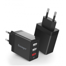 Cargador Essager Qualcomm Quick Charge 3.0 USB Negro