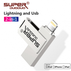 PENDRIVE USB LIGHTINING 32GB 2IN1 IPHONE 6/6S/7/8/X OTG