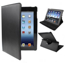 Funda COOL para iPad 2 / iPad 3 / 4 Giratoria Polipiel color Negro (Soporte)