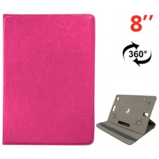 Funda COOL Ebook / Tablet 8 pulgadas Liso Rosa Giratoria