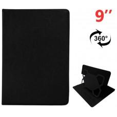 Funda COOL Ebook / Tablet 9 pulg Liso Negro Giratoria