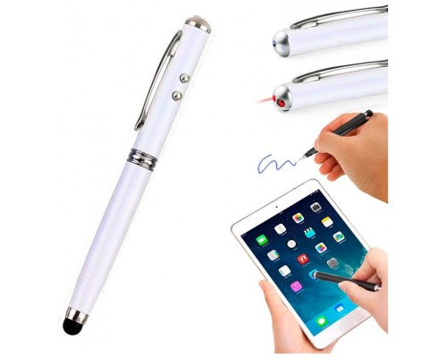 Puntero Stylus COOL Universal Laser Blanco