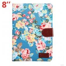 Funda COOL para Samsung Galaxy Tab S2 T710 / T713 / T715 Polipiel Dibujos Flores 8 pulg
