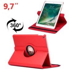 Funda COOL para iPad Air / Air 2 / Pro 9.7 / iPad 2017 / iPad 2018 9.7 pulg Giratoria Polipiel Rojo