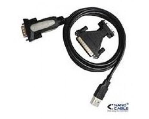CONVERSOR USB A SERIE 1.8 M NANOCABLE (Espera 4 dias)