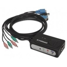 KVM SWITCH VGA USB 1U-2PC+CABLENANOCABLE 10.12.0001