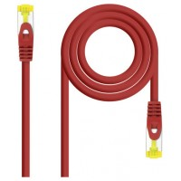 CABLE RED LATIGUILLO RJ45 LSZH CAT.6A SFTP AWG26 ROJO