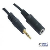 NANOCABLE CABLE AUDIO ESTEREO, 3.5/M-3.5/H, 3.0 M