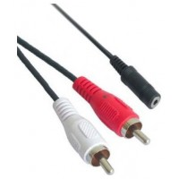 CABLE AUDIO ESTEREO 3.5/H-2xRCA/M 1.5 M NANOCABLE