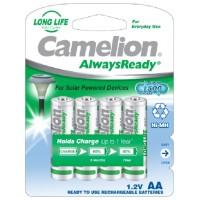 "Recargable ""Always Ready"" AA 600mAh (4 pcs) Camelion (Espera 2 dias)"