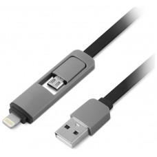 1LIFE - Cable MicroUSB + Adaptador Lightning (iPhone)