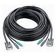 Aten PS/2 KVM Cable, 10m cable para video, teclado y ratón (kvm) Negro (Espera 4 dias)