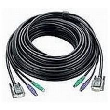 Aten 67ft PS/2 cable para video, teclado y ratón (kvm) Negro 20 m (Espera 4 dias)