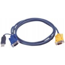 Aten 2L5202UP cable para video, teclado y ratón (kvm) Negro 1,8 m (Espera 4 dias)