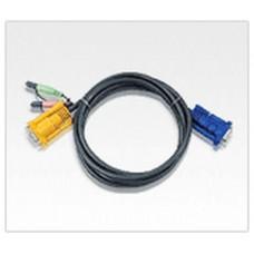 Aten 2L5203A cable para video, teclado y ratón (kvm) 3 m Negro (Espera 4 dias)