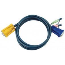 Aten 2L5205A cable para video, teclado y ratón (kvm) 5 m Negro (Espera 4 dias)