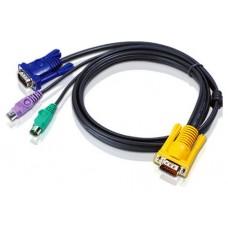 Aten 2L-5210P cable para video, teclado y ratón (kvm) Negro 10 m (Espera 4 dias)