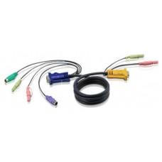 Aten Cable KVM PS/2 con audio y SPHD 3 en 1 de 1,8 m (Espera 4 dias)