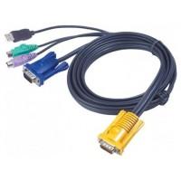 Aten 2L5302UP cable para video, teclado y ratón (kvm) Negro 1,8 m (Espera 4 dias)