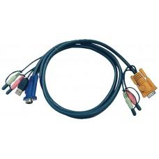 Aten Cable KVM USB con audio y SPHD 3 en 1 de 1,8 m (Espera 4 dias)