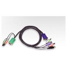 Aten USB KVM Cable cable para video, teclado y ratón (kvm) Negro 5 m (Espera 4 dias)