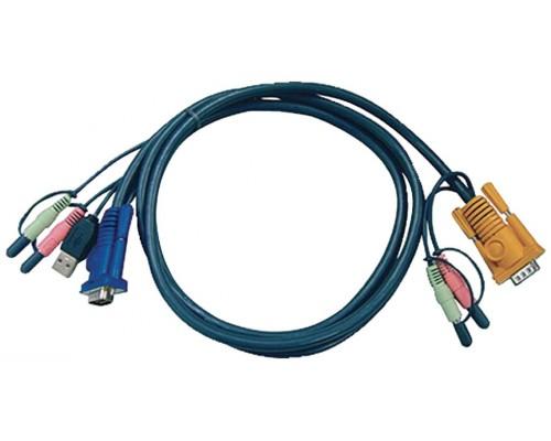 Aten Cable KVM USB con audio y SPHD 3 en 1 de 5 m (Espera 4 dias)