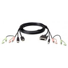 Aten 2L-7D02DH adaptador de cable HDMI DVI-D Negro (Espera 4 dias)