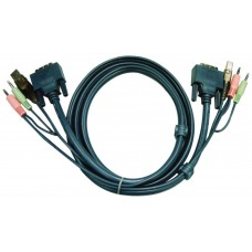 Aten 6ft USB DVI-D Single Link cable para video, teclado y ratón (kvm) Negro 1,8 m (Espera 4 dias)
