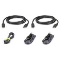 Aten 2L-7D03UDPX5 cable para video, teclado y ratón (kvm) 3 m Negro (Espera 4 dias)