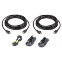 Aten 2L-7D03UHX5 cable para video, teclado y ratón (kvm) 3 m Negro (Espera 4 dias)