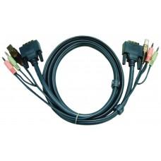 Aten 2L7D03U cable para video, teclado y ratón (kvm) 3 m Negro (Espera 4 dias)
