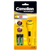 Linterna LED HomeBright 2xAA Camelion (Espera 2 dias)