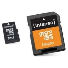 Intenso 3413480 Micro SD clase 10 32GB c/adapt