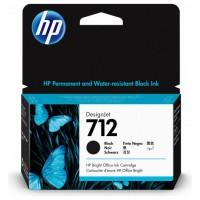 HP712 CARTUCHO GRAN FORMATO TINTA HP 712 NEGRO (3ED70A) (Espera 4 dias)