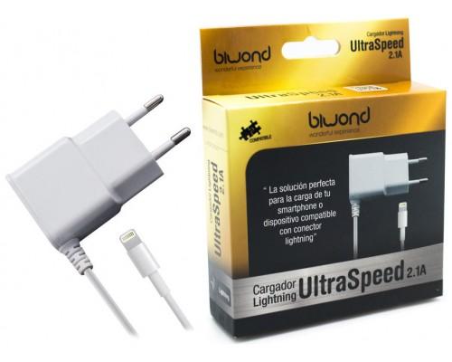 Cargador UltraSpeed Lightning iPhone/iPad Blanco Biwond