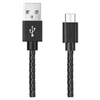 Cable USB a Micro USB 5 Pines (Carga & Transferencia) Piel 1m Biwond