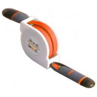 Cable Retráctil USB a Lightning+MicroUSB Naranja