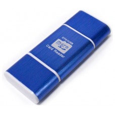 Lector OTG USB y Micro USB Azul (Espera 2 dias)
