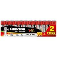 Pack 10 Pilas + 2 Gratis Plus Alcalina AAA LR03 1.5V Camelion (Espera 2 dias)