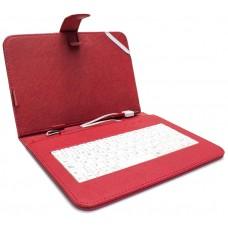 """Funda Tablet Teclado 8"""" Roja (Espera 2 dias)"""