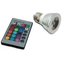 Bombilla LED E27 3W con Mando (Espera 2 dias)