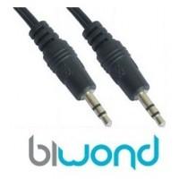 Cable Audio Estereo Jack 3.5mm 1.5m BIWOND