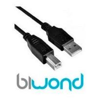 Cable USB 2.0 Impresora 3m BIWOND