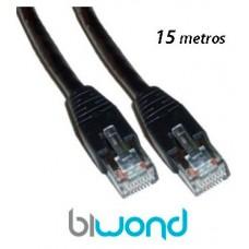 Cable Ethernet 15m Cat 6 BIWOND (Espera 2 dias)