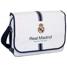 Maletín Ordenador Portátil 15-16 pulg Licencia Fútbol Real Madrid C.F. Blanco