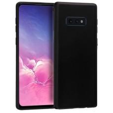Funda Silicona Samsung G970 Galaxy S10e (Negro)