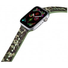 Correa COOL para Apple Watch Series 1 / 2 / 3 / 4 / 5 / 6 / SE (38 / 40 mm) Estampado Militar Verde