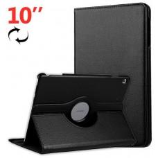 Funda COOL para Huawei Mediapad M5 Lite Polipiel Liso Negro 10.1 pulg