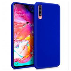 Funda COOL Silicona para Samsung A705 Galaxy A70 (Azul)
